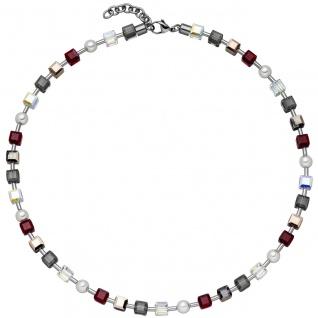 Collier Halskette SWAROVSKI® ELEMENTS mit Edelstahl 45 cm Kette