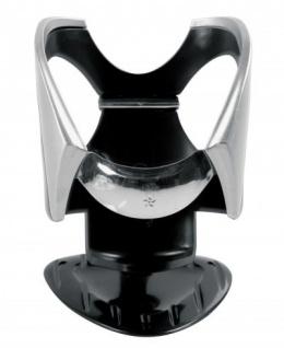 LAMPA edler KFZ Getränkehalter Chrom Look, Flaschen, Dosen bis 500 ml, selbstklebend oder Montage am Lüftungsgitter