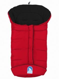 molliger Baby Winter Fleece Fußsack rot-schwarz, voll waschbar, für Kinderwag...