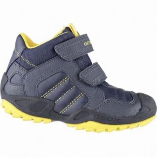 Geox Jungen Synthetik Boots navy, 6 cm Schaft, Meshfutter, Leder Fußbett, Antishokk, 3741120/36