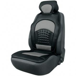 trendige Universal Auto Sitzauflage Space schwarz silber mit Nackenstütze, 30 Grad waschbar, für alle PKW