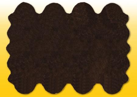 Fellteppiche braun gefärbt aus 8 Lammfellen, Größe ca. 185 x 235 cm, 30 Grad w...
