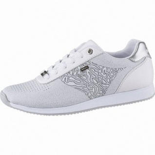 MEXX coole Damen Strick Sneakers white, herausnehmbares Fußbett, 1242176/36