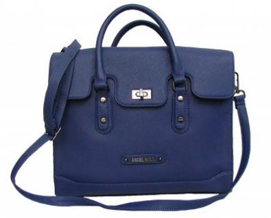 Angel kiss AK5993 blue modische Tasche Kelly Bag Style, Shopper, 3 Hauptfächer, langer Trageriemen, 34x30x11 cm