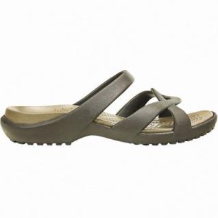 Crocs Meleen Twist Sandal W coole Damen Sandalen espresso, sehr flexibel, tiefe Fersenschale, 4340110/37-38