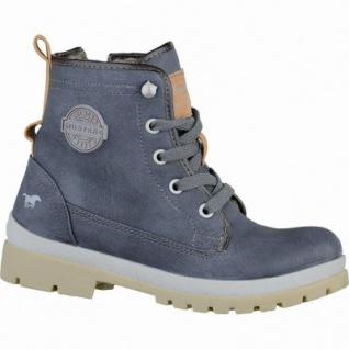 Mustang coole Jungen Leder-Imitat Winter Boots dunkelblau, Warmfutter, warme Decksohle, 3737119