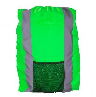 Safety Maker Rucksack Regenschutz reflektierend grün wasserbeständig 30 Liter...