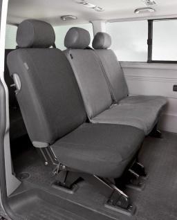 Passform Sitzbezüge Transporter VW T5, passgenauer Stoff Sitzbezug Einzelsitz...