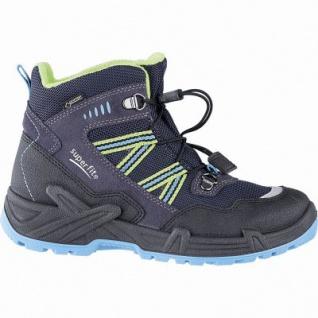 Superfit Jungen Winter Leder Gore Tex Boots blau, angerautes Futter, warmes Fußbett, 3741142/34