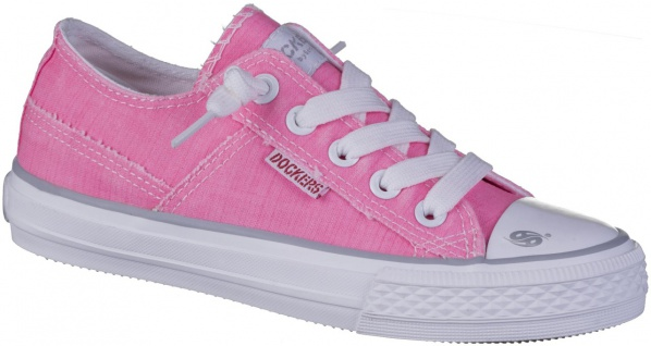 DOCKERS Mädchen Canvas Sneakers pink, softe Decksohle