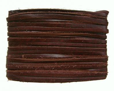 weiches Leder Flechtband Ziegenleder auf Karte dunkelbraun, Länge 10 m, Breit...