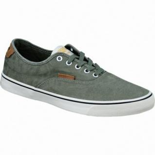 Jack&Jones JJ Surf Cotton Low Herren Canvas Sneaker grün, herausnehmbare Einlegesohle, 2134210/42