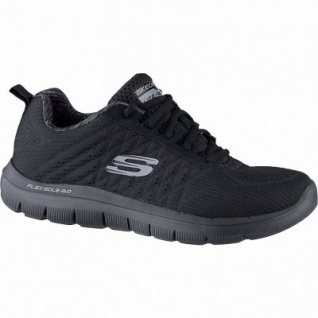 Skechers Flex Advantage 2.0 The Happs coole Herren Mesh Sneakers black, Air-Cooled Memory Foam-Fußbett, 4241148/40