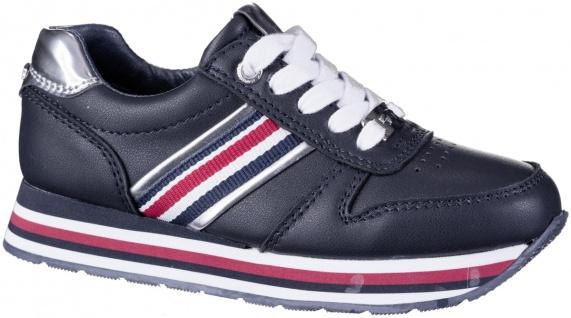 TOM TAILOR Damen, Mädchen Leder Imitat Sneakers navy, weiches Fußbett, Textil...