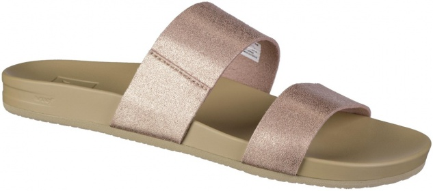 REEF Cushion Bounce Vista Damen Synthetik Pantoletten rose gold, weiches Fußbett
