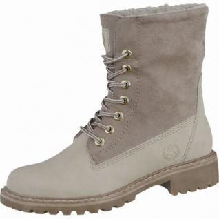 Jane Klain sportliche Damen Synthetik Worker Boots birch, molliges Warmfutter, warme Super-Soft-Decksohle, 1637261/38