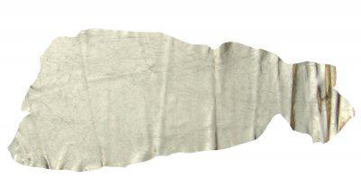 1/2 Rinderhaut, Rindleder gold glänzend beschichtet, Größe ca. 1, 2-1, 5 m², Stärke ca. 0, 7-1, 0 mm, für Bekleidung, Babyschuhe