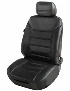 ZIPP IT Universal Echt Leder Auto Sitzbezug schwarz, RV System, Leder Auto Schonbezug