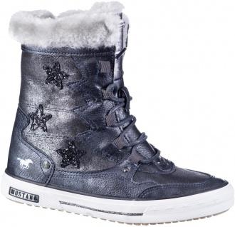 MUSTANG Mädchen Winter Synthetik Boot navy, Warmfutter, warme Decksohle