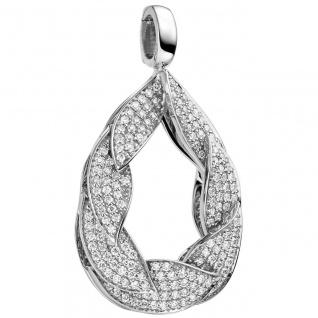 Anhänger Einhänger Tropfen 585 Gold Weißgold 175 Diamanten Brillanten 0, 65ct.