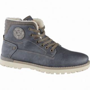 Mustang coole Herren Leder Imitat Winter Boots graphit, molliges Warmfutter, warme Decksohle, 2539104/45