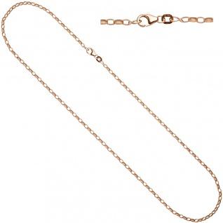 Ankerkette 925 Silber rotgold vergoldet 70 cm Kette Halskette Karabiner - Vorschau 2