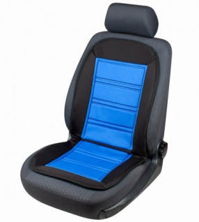 Beheizbare Auto Sitzauflage schwarz blau mit Thermostat, Auto Sitzheizung/Heizkissen