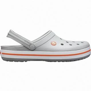 Crocs Crocband leichte Damen Crocs light grey, Croslite Foam-Fußbett, Belüftungsöffnungen, 4342103/36-37