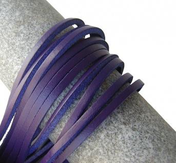 1 Paar Docksider Leder Schuhriemen lila, Länge 120 cm, Stärke ca. 2, 8 mm, Bre...