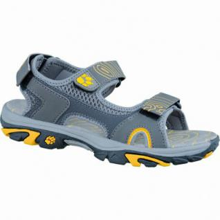 Jack Wolfskin Lakewood Cruise Sandal B Jungen PU Nubuk Sandalen burly yellow, Neopren-Futter, Mikrofaser-Fußbett, 3536156/38