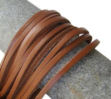 1 Paar Docksider Leder Schuhriemen hellbraun, Länge 120 cm, Stärke ca. 2, 8 mm...