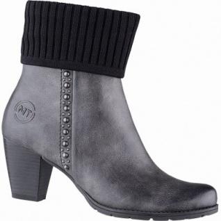 Marco Tozzi modische Damen Leder Imitat Stiefel grau antik, Warmfutter, warme Decksohle, 1641243/36