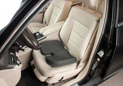 orthopädisches Memory Foam Gel Sitzkissen schwarz 45x35x6 cm, entlastet Rücken+Wirbelsäule, für Auto, Büro - Vorschau 2