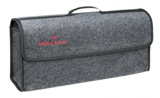 große Kofferraum Auto KFZ Tasche XXL grau mit Klettverschluss+Druckknöpfen 57...