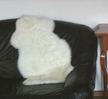 australische Lammfelle naturweiß waschbar, Haarlänge ca. 70 mm, ca. 110x73 cm