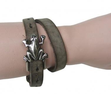 Boom Belts Wechselschließe Frosch silber für Damen, Herren Leder Armbänder mi...