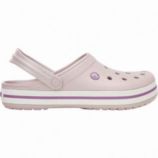 Crocs Crocband leichte Damen Clogs pearl pink, Croslite Foam-Fußbett, Belüftungsöffnungen, 4340103/36-37