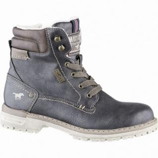 Mustang Jungen Leder Imitat Winter Tex Boots graphit, molliges Warmfutter, warme Decksohle, 3741239