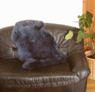australische Lammfelle indigo gefärbt, vollwollig, 30 Grad waschbar, Haarläng...