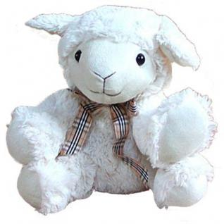 Stofftier Schaf, Kuscheltier, Plüschtier Schaf aus Mikrofaser, voll waschbar, ca. 25 cm hoch