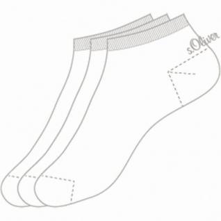 s.Oliver Classic NOS Unisex Sneaker weiß, 3er Pack Damen, Herren Sneaker Socken, 6533111/35-38 - Vorschau 2