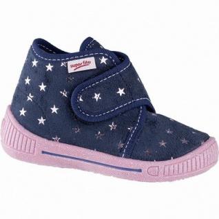 Superfit Sternchen Mädchen Textil Lauflern Hausschuhe blau, mittlere Weite, anatomisches Superfit Fußbett, 3841103/18