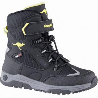 Kangaroos Lero EV RTX coole Jungen Winter Synthetik Tex Stiefel schwarz, 14 cm Schaft, Fleecefutter, warme Decksohle, 3741248/38