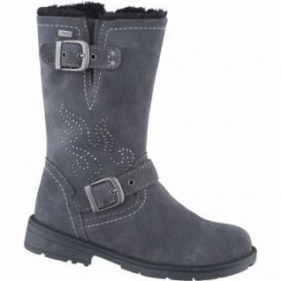 Lurchi Heidi Mädchen Leder Winter Tex Stiefel charcoal, Warmfutter, warmes Fußbett, breitere Passform, 3739134
