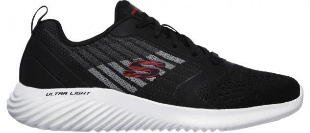 SKECHERS Bounder Verkona Herren Mesh Sneakers black, Air Cooled Memory Foam F...