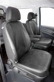 Passform Sitzbezüge Mercedes Viano W639, Kunstleder Sitzbezug 2 Einzelsitze f...
