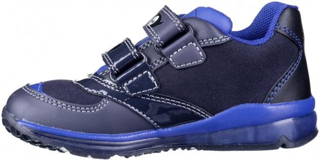 GEOX Jungen Synthetik Lauflern Sneakers navy, Geox Leder Fußbett, Antishock