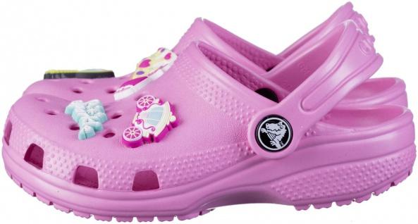 CROCS TM SHOES Classic Charm Clog Kids Mädchen Clogs pink, Massage Fußbett