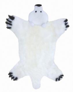 Lammfell Spielteppich Polarbär weiß, ökologische Gerbung mit Alaun, pflanzlic...