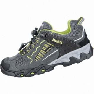 Meindl SX 1 Junior GTX Mädchen, Jungen Leder Mesh Trekking Schuhe anthrazit, Goretex Ausstattung, 4430143/39